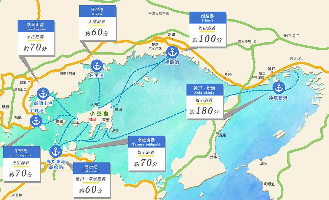 小豆島へのアクセス方法