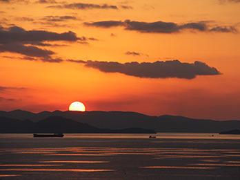 日本夕陽百選の夕陽